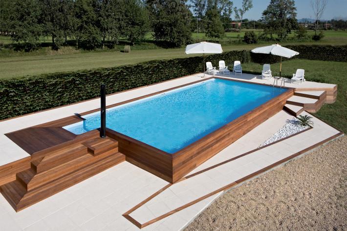 La piscina in giardino giciarch - Piscina fuori terra in giardino ...