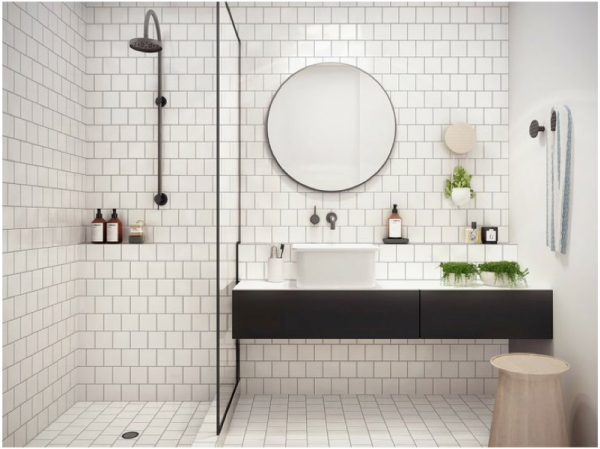 Stile nordico in casa bagno