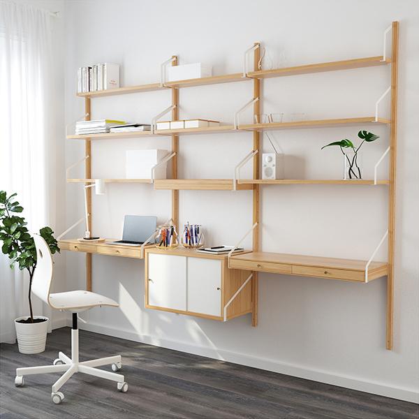 ikea-mobile-parete-scrivania-scaffali-legno-svalnas-ok